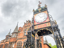 Eastgate clock in Chester, England Royalty Free Stock Photo