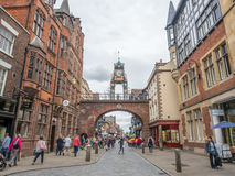 Eastgate clock in Chester, England Royalty Free Stock Image
