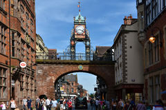 Eastgate clock Chester Stock Image
