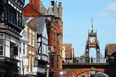 Eastgate clock, Chester. Royalty Free Stock Image