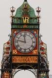 Eastgate Clock specificerar i Chester, England Arkivbild