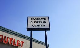 Eastgate Shopping Center Sign, Memphis, Tennessee Stock Photos