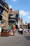Eastgate shopping Street, Chester. Stock Image