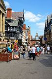 Eastgate shopping street, Chester. Stock Photography