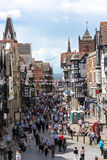 Eastgate street. Chester. England. Eastgate street , viewed from Eastgate clock. Chester.  county Cheshire. England Royalty Free Stock Photos