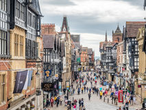 Eastgate street in Chester, England Stock Image