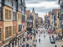 Eastgate street in Chester, England Stock Photos