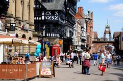 Eastgate Street, Chester. Royalty Free Stock Images