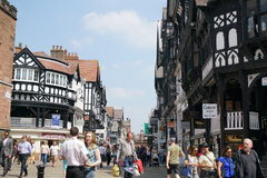 Eastgate Street,Chester Royalty Free Stock Photo