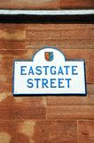 Eastgate street sign, Chester. Stock Images