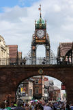 Eastgate zegar. Chester. Anglia Zdjęcia Royalty Free