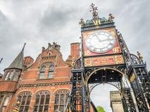 Eastgateklok in Chester, Engeland stock afbeelding