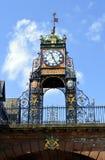 Eastgateklokketoren in Chester, Engeland, het UK royalty-vrije stock foto