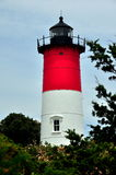 Eastham, MA :1838 Nauset海滩灯塔 图库摄影