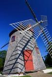 Eastham väderkvarn Cape Cod, Massachusetts, USA royaltyfri bild