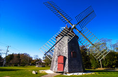 Eastham Windmill, Eastham, Cape Cod, MA. The historic Eastham Windmill on Cape Cod.    (Image has been taken from a color slide Stock Photo