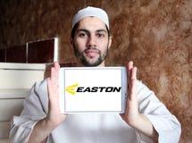 Easton Baseball brand logo. Logo of Easton Baseball on samsung tablet holded by arab muslim man. Easton sells baseball bats, softball bats, ball gloves, batting Royalty Free Stock Photography