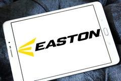 Easton Baseball brand logo. Logo of Easton Baseball on samsung tablet . Easton sells baseball bats, softball bats, ball gloves, batting helmets, catcher`s gear Stock Image
