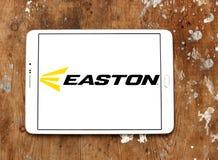 Easton Baseball brand logo. Logo of Easton Baseball on samsung tablet on wooden background. Easton sells baseball bats, softball bats, ball gloves, batting Royalty Free Stock Photo