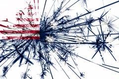 Easton, Pennsylwania fajerwerki błyska flaga Nowy Rok 2019 i przyjęcia gwiazdkowego pojęcie flaga stanów zjednoczonej ameryki ilustracja wektor