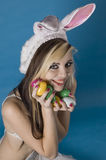 Eastre Goddess. Easter goddess looking cute and adorable Royalty Free Stock Images