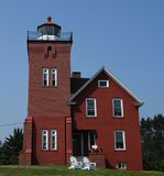 Eastside взгляд маяка 2 гаваней стоковые фотографии rf