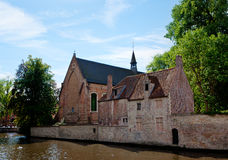 Eastside of the  Beguinage church Bruges / Brugge, Belgium Royalty Free Stock Photos
