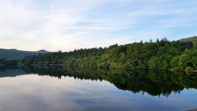 Eastside du réservoir de burrator, Dartmoor, Devon R-U Images libres de droits