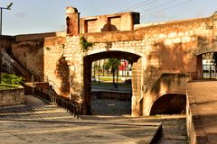 Eastside entrance to the colonial City of Santo Domingo Royalty Free Stock Photography