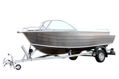 Easy boat loaded on the trailer Stock Photography