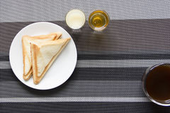 Easy breakfast at home Stock Photography
