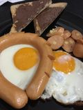 The easy breakfast Stock Image