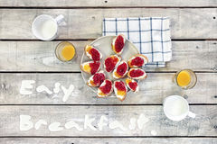 Easy breakfast table Royalty Free Stock Photos