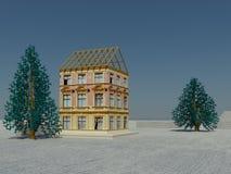 Easy building scene Stock Photo