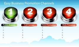 Easy Business Promotion Slide royalty free illustration