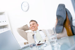Easy businessman Royalty Free Stock Image