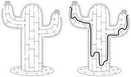 Easy cactus maze Stock Photo