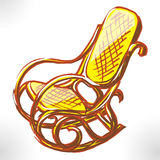 Easy chair color raster Stock Image
