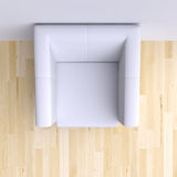 Easy chair in corner of the room. Stock Photos
