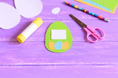 Easy children paper crafts for Easter Royalty Free Stock Photos