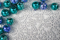 Easy christmas background from snowflakes Stock Photos