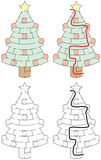 Easy Christmas tree maze Royalty Free Stock Image