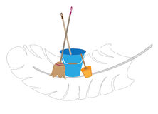 Easy cleaning. Vector logo of the company carrying out cleaning Royalty Free Stock Photos