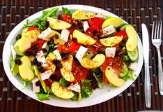 Easy & delicious organic salad stock images