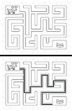 Easy dog maze Stock Photography