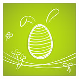 Easy Easter greeting card Stock Photo