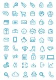 More than fifty Line Web, office, and business  Icon Pack. Easy edit More than fifty Flat Line Web, office, and business Icon Pack Royalty Free Stock Image