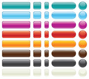 Easy Editable Website Buttons-Vector Royalty Free Stock Photo