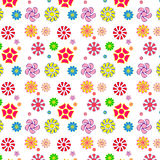 Easy and fun pattern of flowers Stock Photos