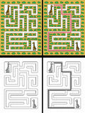 Easy giraffe maze Stock Photos